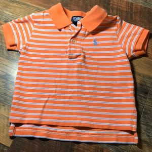 Orange short sleeve polo